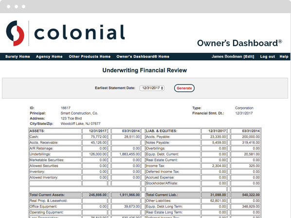 See your underwriting financial review